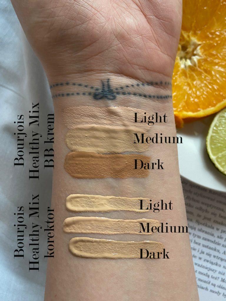 Zarówno korektor Bourjois Healthy Mix, jak i krem BB Bourjois Healthy Mix dostępne są w trzech odcieniach – Light, Medium i Dark – sprawdź, jak dobrać podkład do twarzy.